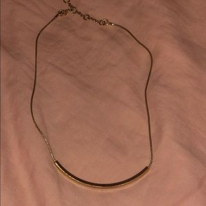 Adjustable gold tone rope chain necklace